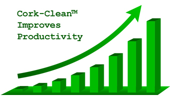 Cork Clean Improves Productivity